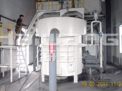 Fluidizing bed separator